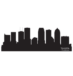Tampa Florida skyline Detailed silhouette vector image