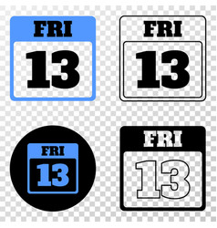 13th friday calendar page eps icon with vector