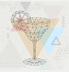 abstract polygonal tirangle cocktail margarita vector image