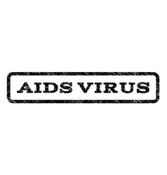 aids virus watermark stamp vector image