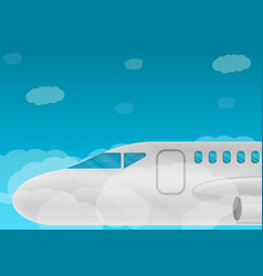Airbus concept banner cartoon style vector