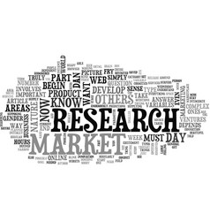 are you ready to research your market text word vector image