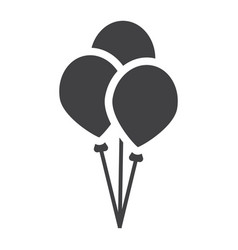 Ballons solid icon party and holiday vector