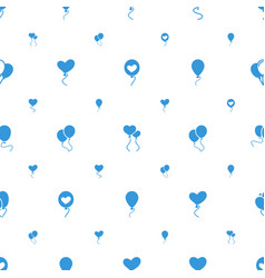 Balloons icons pattern seamless white background vector
