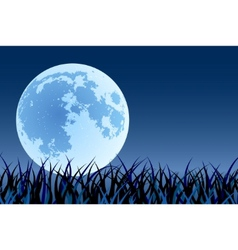 big moon vector image