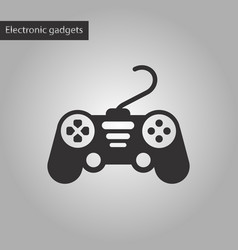 Black and white style icon game joystick vector