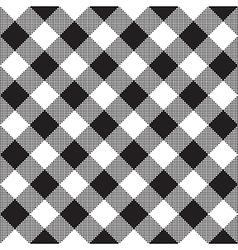 Black white checkerboard check diagonal textile vector