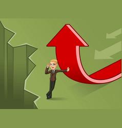 Blonde businessman change of a direction concept vector