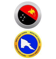 Button as a symbol PAPUA NEW GUINEA vector