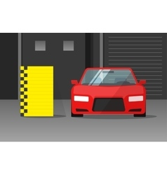 Car crash test vector image