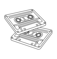 cassettes for tape recorderhippy single icon in vector image