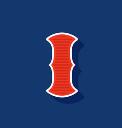 Classic style i letter sport logo vector