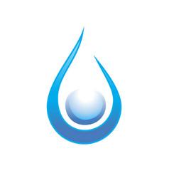 clean water drop swoosh symbol design vector image