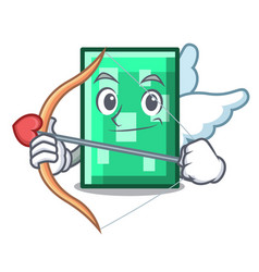 Cupid rectangle character cartoon style vector