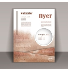Design a brochure or a booklet with an abstract vector image