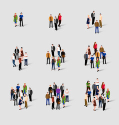 different groups of people social network vector image
