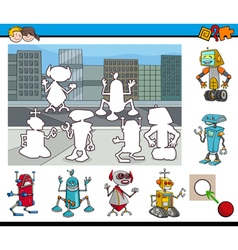 Educational activity with robots vector