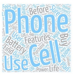 Electronics Tips Cell Phone Facts Every User vector image