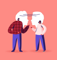 Empathy communication skills open mind vector