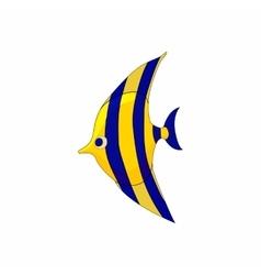 Fish zanclus icon in cartoon style vector