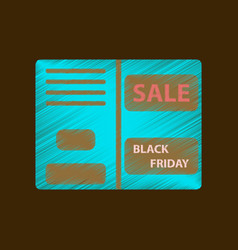 flat shading style icon sale booklet vector image