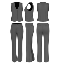 Formal black trousers suit for women vector image
