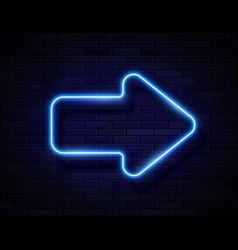 futuristic sci fi modern neon blue glowing vector image