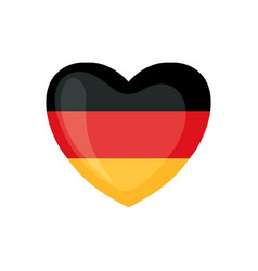 German flag icon in form heart isolated on vector