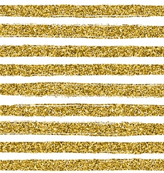 Golden glitter texture line on white background vector