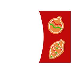 greeting card gingerbread christmas ball vector image