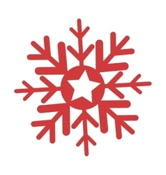 happy merry christmas snowflake icon vector image