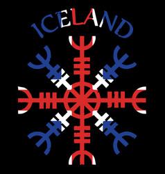 Helm of awe of terror icelandic magical vector