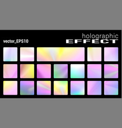 holographic glitter texture collection trendy vector image
