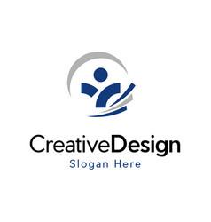 Human agency development creative logo vector