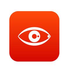 human eye icon digital red vector image