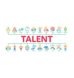 Human talent minimal infographic banner vector