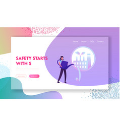 Industrial workers health protection safety vector