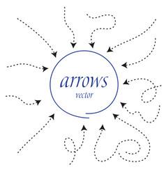infographic arrows dynamic arrow symbol vector image