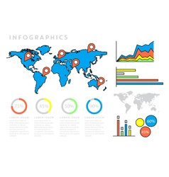 Infographics world map vector