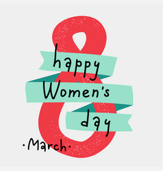 International women s day greeting card 8 march vector