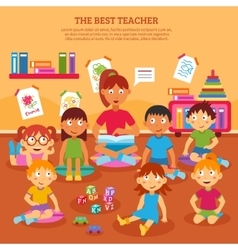 Kids Teacher Poster vector image