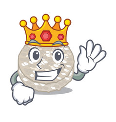 King rice cakes isolated in mascot vector