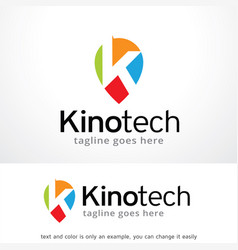 Letter k logo template vector