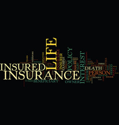 Life insurance text background word cloud concept vector