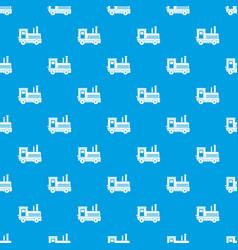 locomotive pattern seamless blue vector image