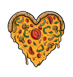 Love pizza vector