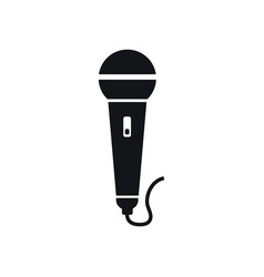 microphone graphic design template isolated vector image