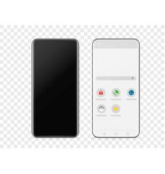 modern frameless smartphone isolated on vector image