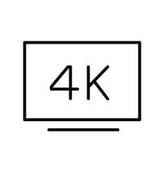 Monochrome simple television screen 4k resolution vector