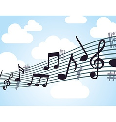 Music note design vector